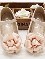 cheap -Girls' Shoes Synthetic Microfiber PU Spring Fall Comfort Flower Girl Shoes Flats for Casual Beige Pink
