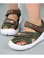 cheap -Boys' Shoes PU Spring Summer Comfort Sandals for Casual Army Green Gray Black
