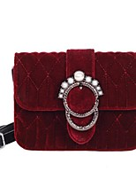 cheap -Women Bags Polyester Shoulder Bag Buttons Pearl Detailing for Casual All Season Red Black Green Blue