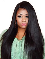 cheap -250% Density Lace Front Human Hair Wigs For Black Women Straight Pre Plucked Malaysian Lace Wig Full Ends