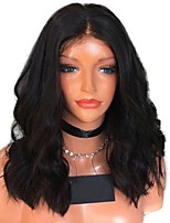 cheap -Human Hair Lace Front Wig Brazilian Hair Wavy Natural Wave With Baby Hair 150% Density Unprocessed 100% Virgin Natural Hairline Short