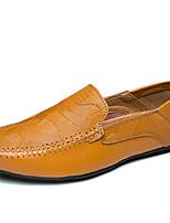 Недорогие -Муж. обувь Наппа Leather Весна Осень Удобная обувь Мокасины Мокасины и Свитер для Повседневные Для вечеринки / ужина Белый Черный