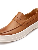 cheap -Men's Shoes Synthetic Microfiber PU Spring Fall Light Soles Loafers & Slip-Ons for Casual Burgundy Brown Black
