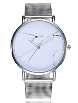 cheap -Women's Wrist watch Fashion Watch Chinese Quartz Marble Large Dial Alloy Band Casual Minimalist Silver