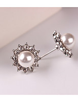 cheap -Women's Stud Earrings Rhinestone Lovely Sweet Imitation Pearl Alloy Sunburst Jewelry Party Daily Costume Jewelry
