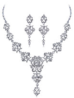cheap -Women's Bridal Jewelry Sets Rhinestone Alloy , Formal Fashion Sweet Wedding Party 1 Necklace Earrings Costume Jewelry