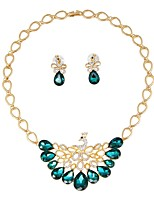 cheap -Women's Jewelry Set Bridal Jewelry Sets Gold Plated Classic Fashion Party Office & Career 1 Necklace Earrings Costume Jewelry