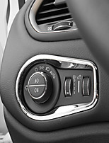 cheap -Automotive Headlight Button Covers DIY Car Interiors For Jeep Renegade Plastic