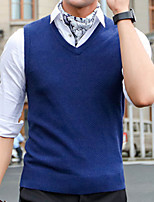 cheap -Men's Vest - Solid Color V Neck