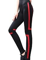 baratos -Mulheres Calças de Corrida Respirabilidade Calças Correr Poliéster Elastano Branco Vermelho Azul S M L