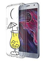 abordables -Coque Pour Motorola E4 Plus Motif Coque Arrière Nourriture Flexible TPU pour Moto X4 Moto E4 Plus Moto E4