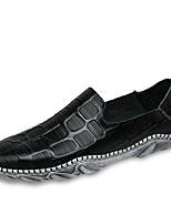 Недорогие -Муж. обувь Полиуретан Весна Осень Удобная обувь Мокасины и Свитер для Белый Черный