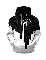 Недорогие -Муж. Повседневные Толстовка Геометрический принт Капюшон Слабоэластичная Полиэстер Длинные рукава Весна Осень