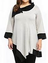 abordables -Tee-shirt Femme,Imprimé Quotidien Décontracté Printemps Col Arrondi Coton Opaque