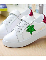 cheap -Girls' Shoes Synthetic Microfiber PU Spring Fall Comfort Sneakers for Casual Green Red