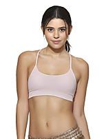 preiswerte -Damen Leichte Unterstützung Sport-BHs Schnelles Trocknung Dehnbar Sport-BHs für Rennen Baumwolle Nylon Weiß XS S M L