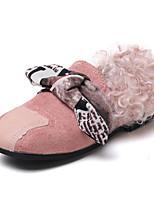 Недорогие -Девочки обувь Нубук Полиуретан Зима Осень Удобная обувь Детская праздничная обувь Мокасины и Свитер для Повседневные Черный Коричневый