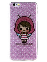economico -Custodia Per Apple iPhone 7 iPhone 6 Fantasia/disegno Custodia posteriore Cartoni animati Glitterato Resistente PC per iPhone 7 Plus