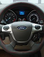 Недорогие -автомобильные крышки рулевого колеса (кожа) для ford все годы escort fiesta mondeo kuga ecosport taurus edge focus