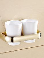 Недорогие -Modern Подставки для зубных щеток Медь Номера Мини Однотонный Круглые Средний Поролон