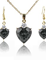 cheap -Women's Jewelry Set Pendant Necklace Lovely Fashion Wedding Daily Gold Plated 1 Necklace Earrings