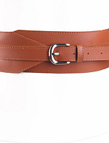 cheap -Women's Alloy Waist Belt,Black Red Beige Camel Casual