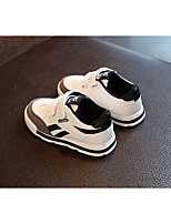 cheap -Boys' Shoes PU Spring Fall Comfort Sneakers for Casual Black White