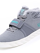 cheap -Women's Shoes PU Spring Fall Comfort Sneakers Flat Heel Round Toe for Casual Blue Gray Black