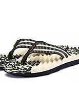Недорогие -Муж. обувь Тюль Лето Удобная обувь Тапочки и Шлепанцы для Повседневные Коричневый Зеленый Синий