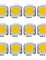 cheap -20W COB 1600LM 3000-3200K/6000-6200K Warm White/White Light LED Chip DC30-36V 12Pcs