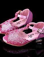 Недорогие -Девочки обувь Лак Весна Осень Удобная обувь Детская праздничная обувь Крошечные Каблуки для подростков Обувь на каблуках для Повседневные