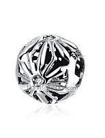 cheap -DIY Jewelry 1 pcs Beads Silver Round Silver Bead 1.1 cm DIY Bracelet Necklace