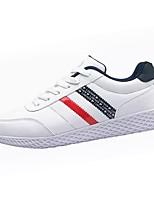 preiswerte -Schuhe Künstliche Mikrofaser Polyurethan Frühling Herbst Komfort Sneakers für Normal Weiß Schwarz Dunkelblau