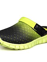 Недорогие -Универсальные Обувь Сетка Лето Осень Удобная обувь Тапочки и Шлепанцы Дышащая спортивная обувь На плоской подошве Сапоги до середины икры