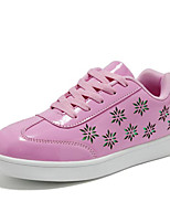 cheap -Boys' Girls' Shoes Patent Leather Spring Fall Comfort Sneakers for Casual Pink Silver Black White Gold