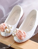 Недорогие -Девочки обувь Кружева Лакированная кожа Ткань Весна Лето Детская праздничная обувь Светодиодные подошвы На плокой подошве Для прогулок