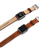 economico -Cinturino per orologio  per Apple Watch Series 3 / 2 / 1 Apple Custodia con cinturino a strappo Chiusura moderna Pelle