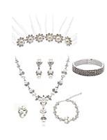 cheap -Women's Hair Sticks Bridal Jewelry Sets Rhinestone Fashion European Wedding Party Imitation Pearl Imitation Diamond Alloy Flower Body