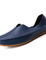 cheap -Men's Shoes Cowhide Nappa Leather Leather Spring Fall Comfort Loafers & Slip-Ons for Casual White Beige Red Blue