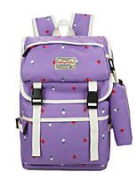 cheap -Women's Bags Canvas Bag Set 2 Pieces Purse Set Pattern / Print Zipper for Casual Outdoor Spring Fall Black Blushing Pink Dark Blue Purple