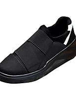 cheap -Men's Shoes Suede PU Spring Fall Comfort Loafers & Slip-Ons for Casual White Black