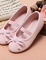 cheap -Girls' Shoes Synthetic Microfiber PU Spring Fall Comfort Flower Girl Shoes Flats Walking Shoes Bowknot Magic Tape for Wedding Party &