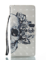 cheap -Case For Xiaomi Redmi Note 5A Redmi Note 4X Card Holder Wallet with Stand Full Body Cases Skull Hard PU Leather for Xiaomi Redmi Note 4X