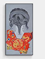 Недорогие -Мультипликация Иллюстрации Предметы искусства,Алюминиевый сплав материал с рамкой For Украшение дома Предметы искусства в рамках В