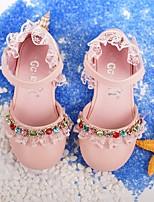 Недорогие -Девочки обувь Искусственное волокно Весна Осень Удобная обувь Детская праздничная обувь Крошечные Каблуки для подростков Обувь на каблуках