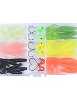 cheap -36 pcs g / Ounce mm inch, Plastic Carbon Steel Jigging Sea Fishing Fly Fishing Bait Casting Ice Fishing Spinning Jigging Fishing