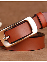 cheap -Women's Leather Waist Belt,Brown White Black Red Camel Casual