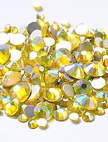 cheap -Rhinestones Crystal Yellow Nail Art Design