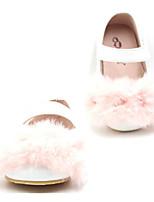Недорогие -Девочки обувь Кожа Весна Осень Удобная обувь Обувь для малышей На плокой подошве для Повседневные Белый