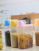 Недорогие -пластик Творческая кухня Гаджет Хранение продуктов питания 3шт Кухонная организация